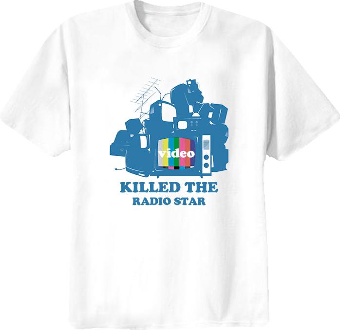 Video Killed The Radio Star Retro Cool Funny T Shirt
