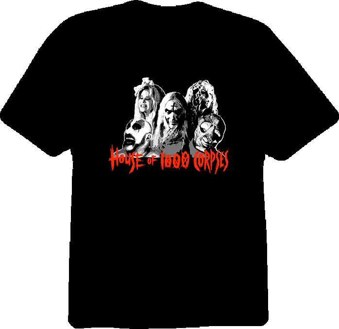 House Of A Thousand Corpses Horror Cult Movie T Shirt