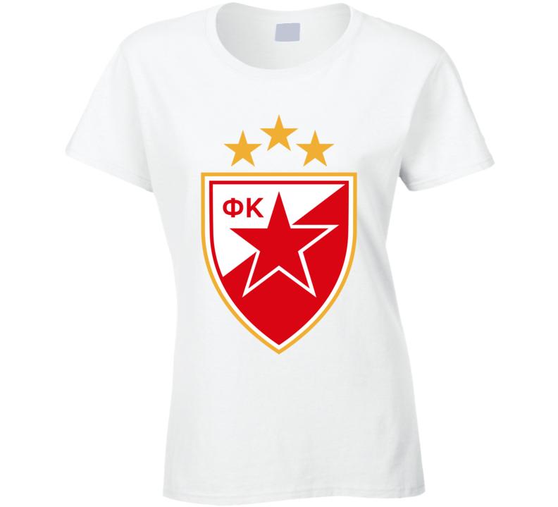 Red Star Fc Crvena Zvezda Ladies T Shirt