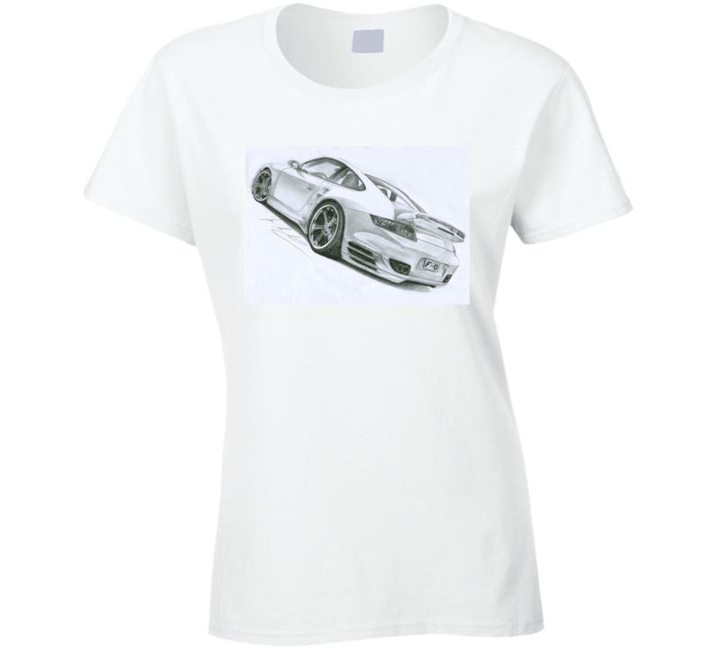 Porsche 911 Ladies T Shirt