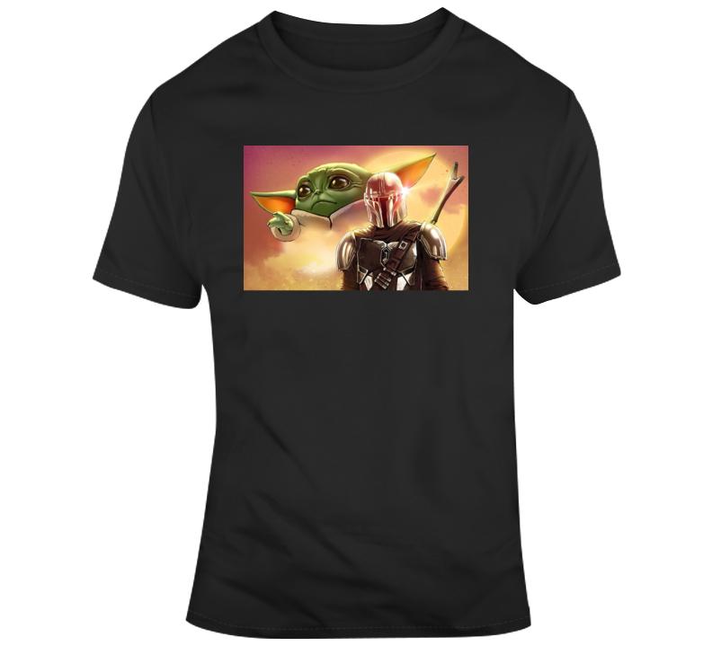 Mandalorian And Baby Yoda T Shirt
