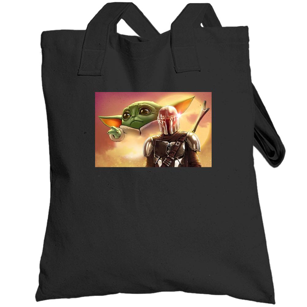 Mandalorian And Baby Yoda Totebag