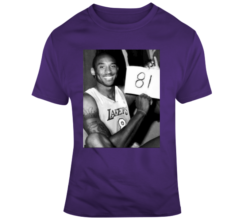81 Points Black Mamba Forever Los Angeles T Shirt