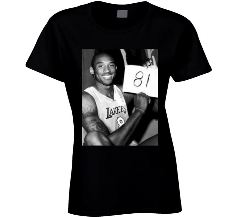 Mamba Forever Kobe Bryant 81 Points Photograph Ladies T Shirt