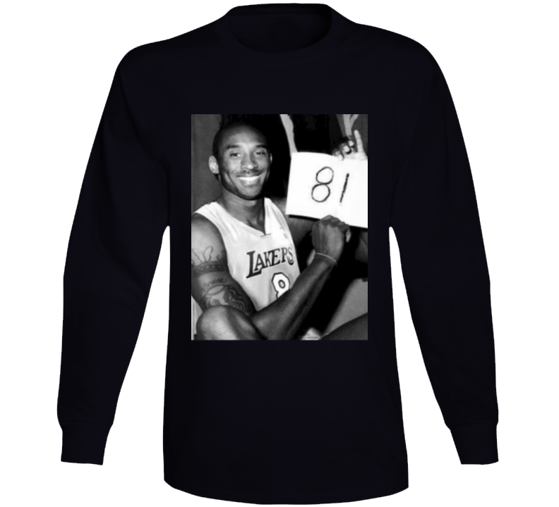 Mamba Forever Kobe Bryant 81 Points Photograph Long Sleeve