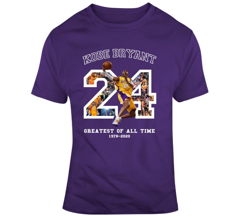 Kobe Bryant Best Of All Time Fan Memorial Black Mamba Forever T Shirt