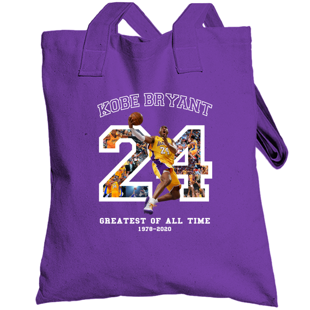 Kobe Bryant Best Of All Time Fan Memorial Black Mamba Forever Totebag