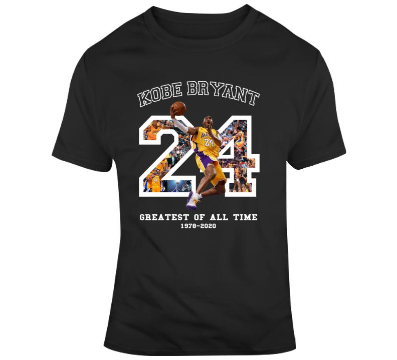 Kobe Bryant Greatest Of All Time Fan Memorial Black Mamba Forever T Shirt