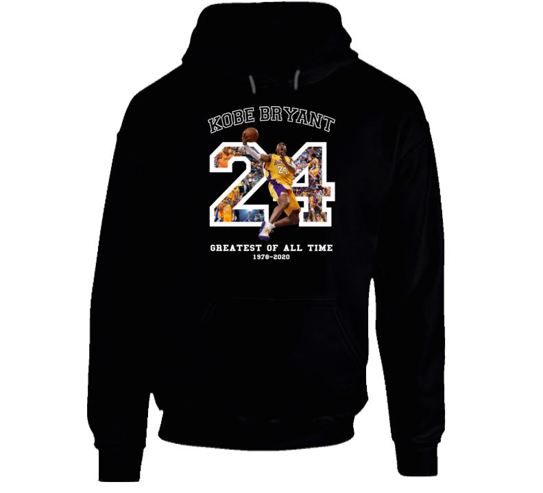 Kobe Bryant Greatest Of All Time Fan Memorial Black Mamba Forever Hoodie