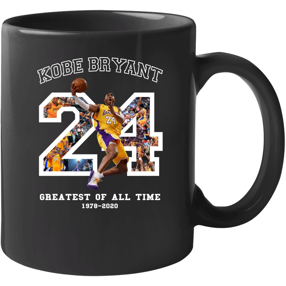 Kobe Bryant Greatest Of All Time Fan Memorial Black Mamba Forever Mug