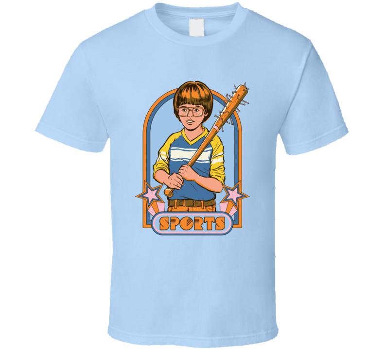 Sports Nailed Baseball Bat Negan Parody Retro Poster Fan T Shirt