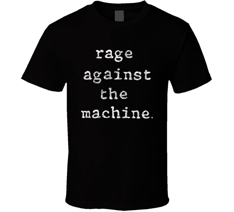 Rage Against The Machine Rock Band Logo T Shirt