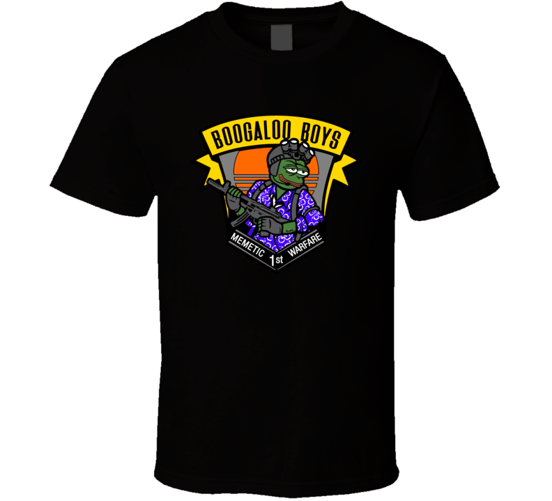 The Boogaloo Boys Memetic First Warfare Battle Patches Cool T Shirt