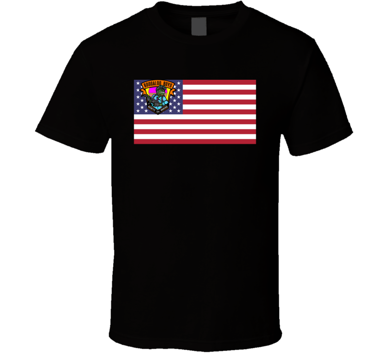 The Boogaloo Boys Usa Flag Memetic First Warfare Battle Patches T Shirt
