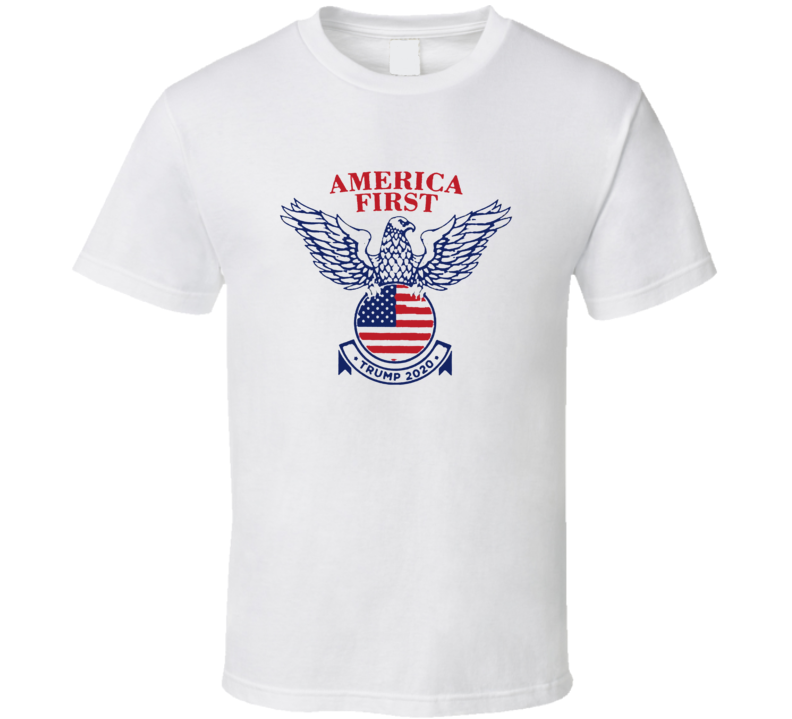 American First Trump 2020 President T Shirt