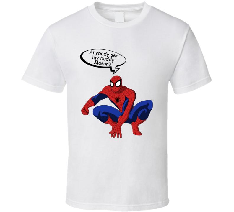 Spiderman Buddy Mason T Shirt