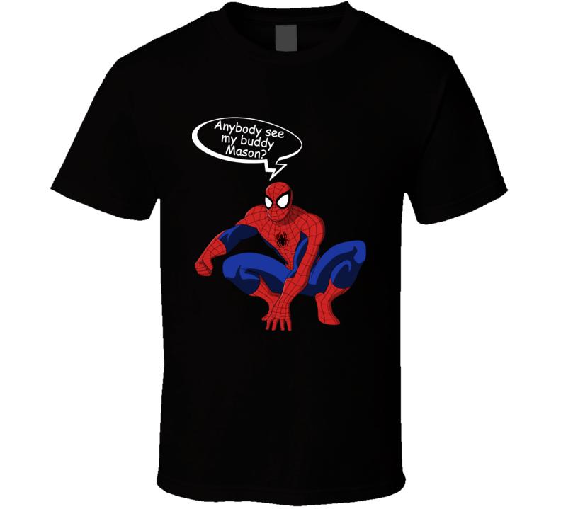 Spiderman Buddy Mason Cool T Shirt