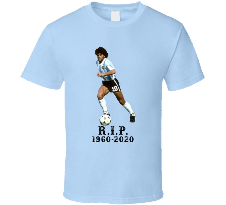 Diego Maradona Tribute Cool Soccer Star Fan T Shirt