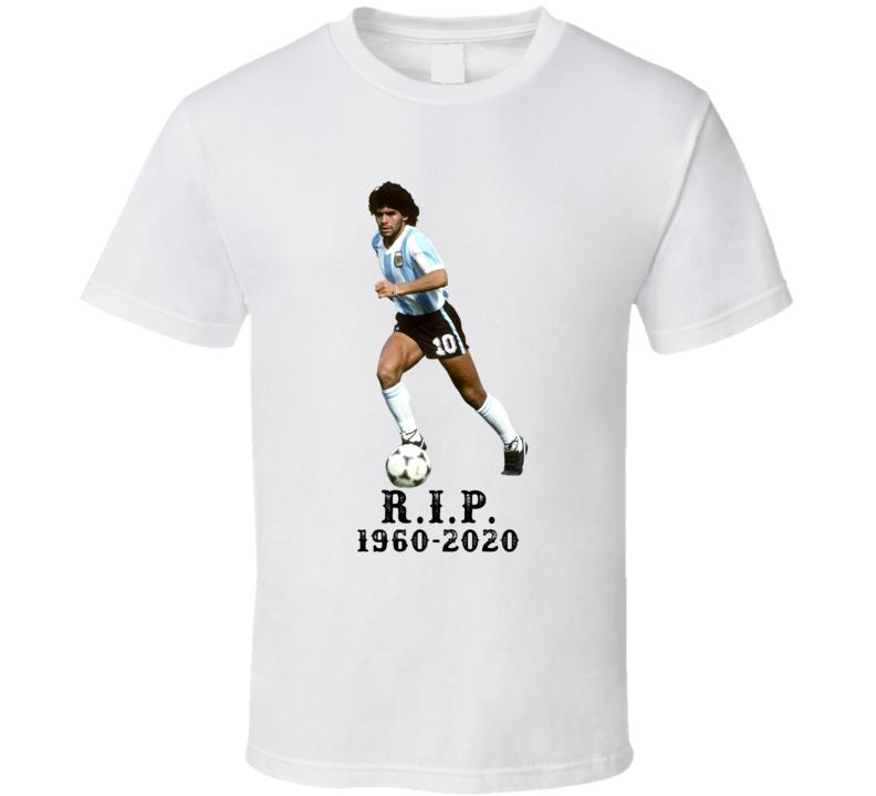 Diego Maradona Tribute Soccer Star T Shirt