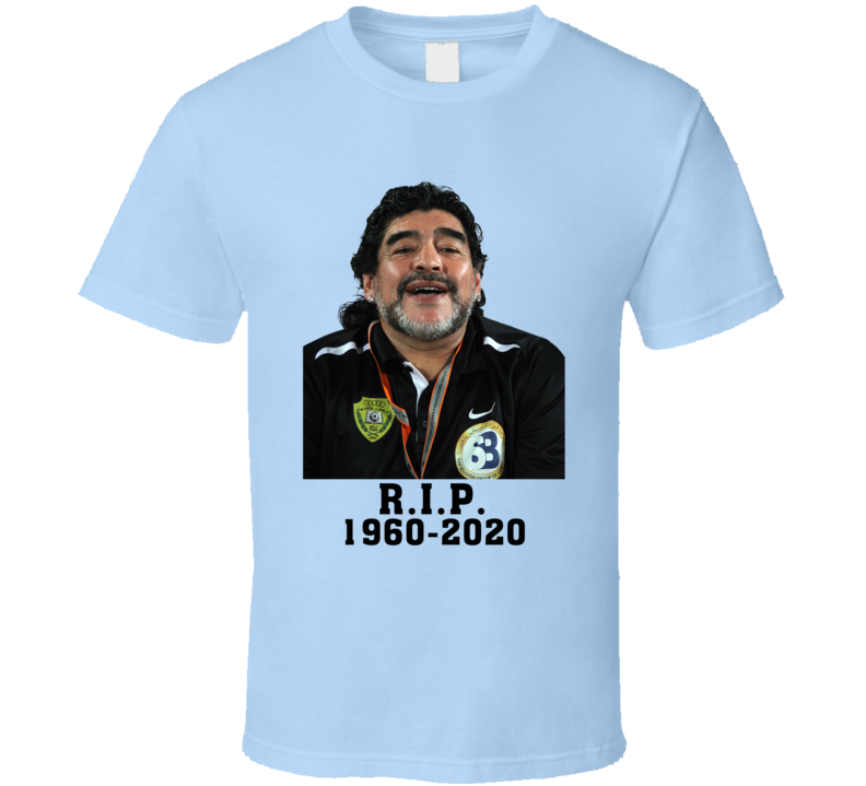 Diego Maradona Tribute Argentina Cool Soccer Fan T Shirt