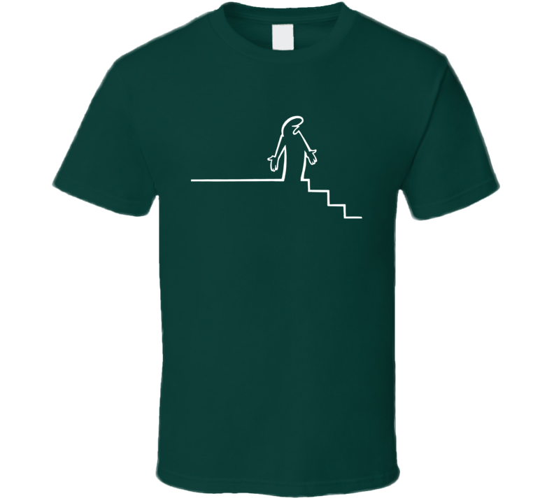 La Linea The Line Encounters Stairs Animated Series Fan T Shirt