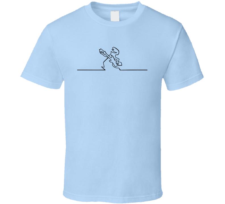 La Linea The Line Plays A Guitar Animated Series Fan T Shirt