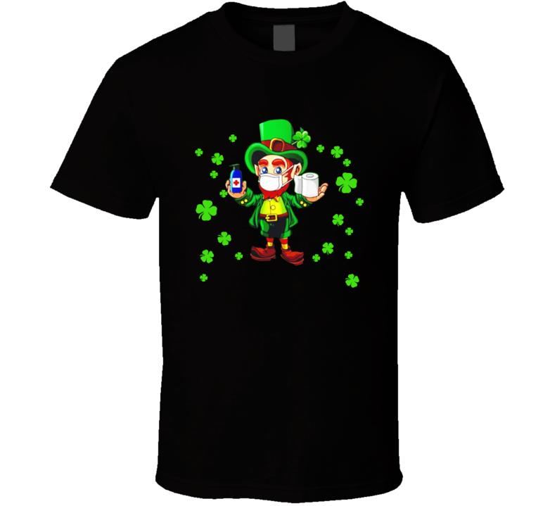 Leprechaun Facemask Ireland St Patricks Day T Shirt
