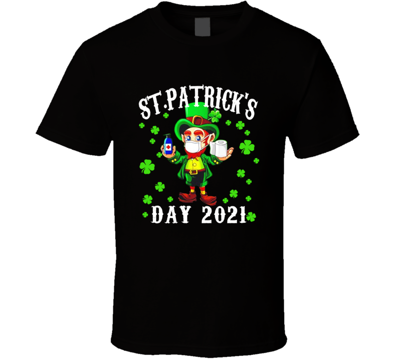 Leprechaun Facemask St Patricks Day T Shirt