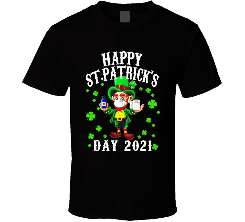 Leprechaun Facemask Irish St Patricks Day T Shirt