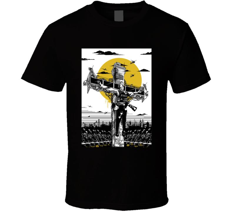 Reminder Julian Assange Collateral Crucifixion T Shirt