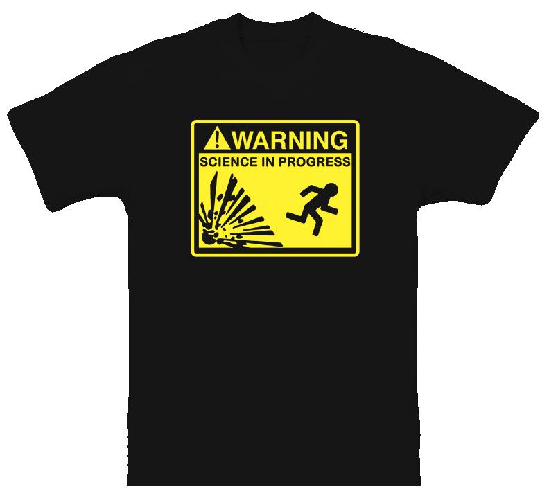 Mythbusters Science Reality Warning T Shirt
