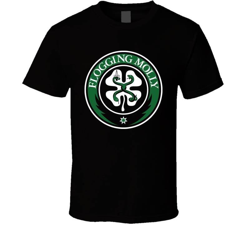 Flogging Molly Rock Crest T Shirt