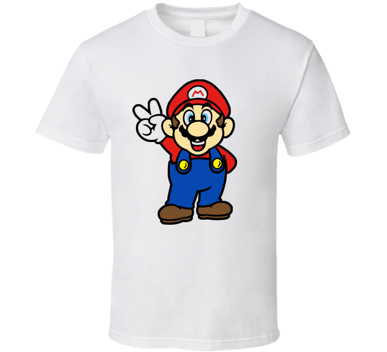 Super Mario Peace Video Game T Shirt