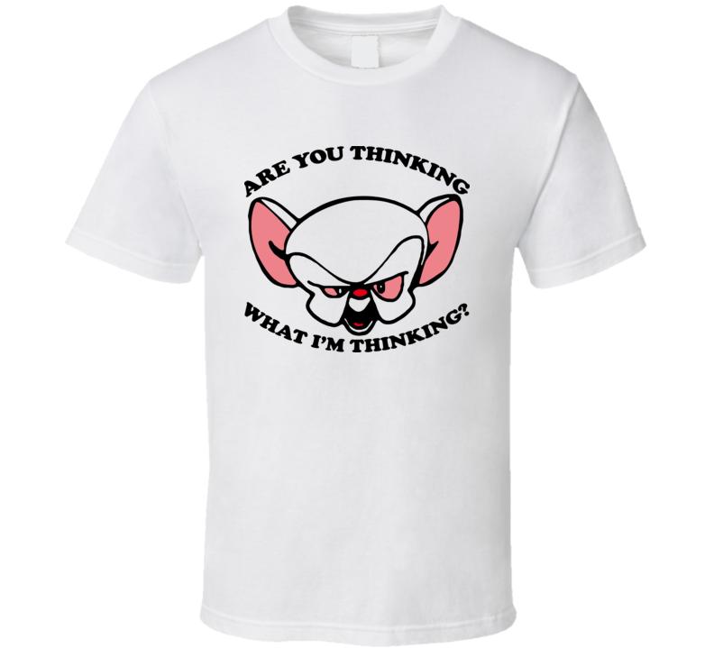 Pinky And The Brain Thinking Cartoon T Shirt