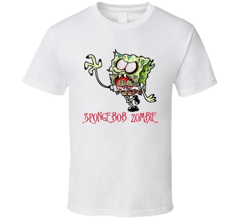 Spongebob Zombie Funny Cult T Shirt