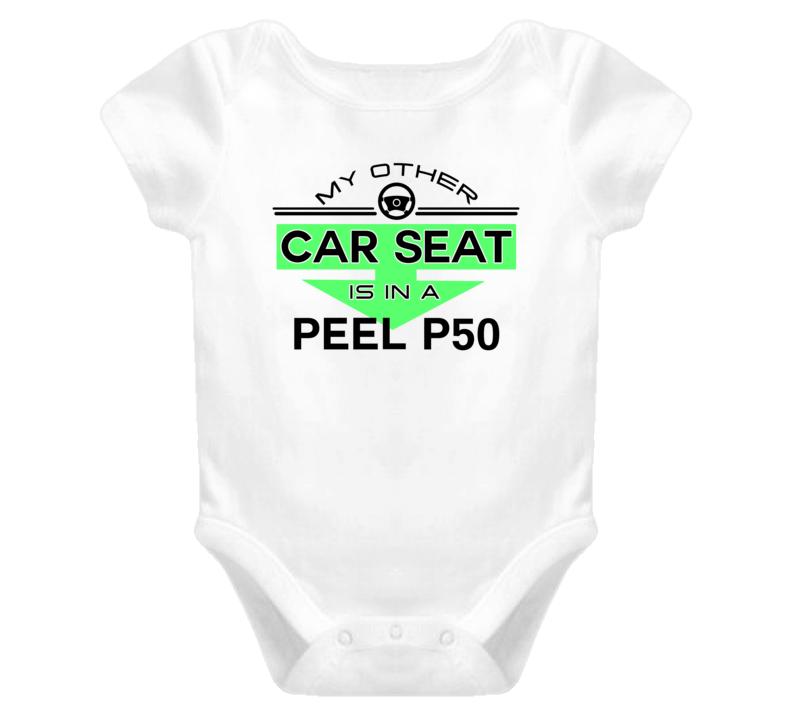 Car Seat In A Peel P50 Funny Kids Car T Shirt