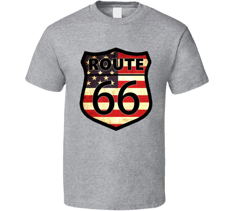 Vintage Route 66 American Road Trip USA Car T Shirt
