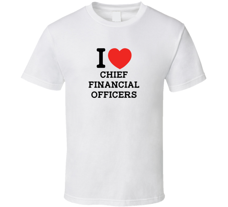 I Heart Chief Financial Officer Love Jobs NY Parody T Shirt