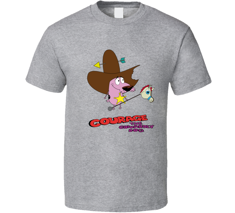 Courage the Cowardly Dog Cawboy T Shirt