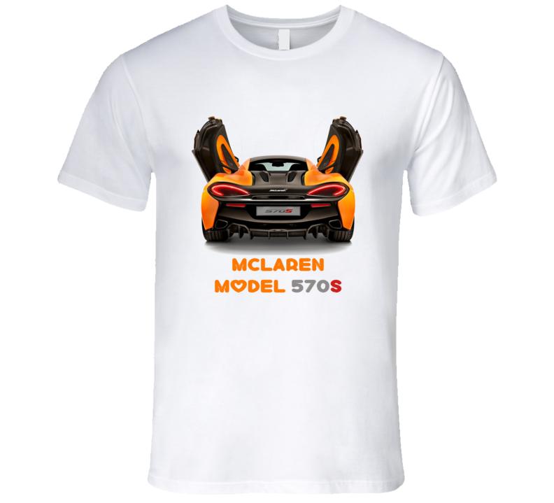 McLaren Model Sports Series 570S Coupe Race Sports Car T Shirt
