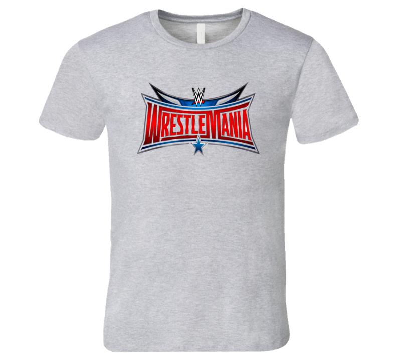 WrestleMania Logo Sport Wrestling WWE T Shirt