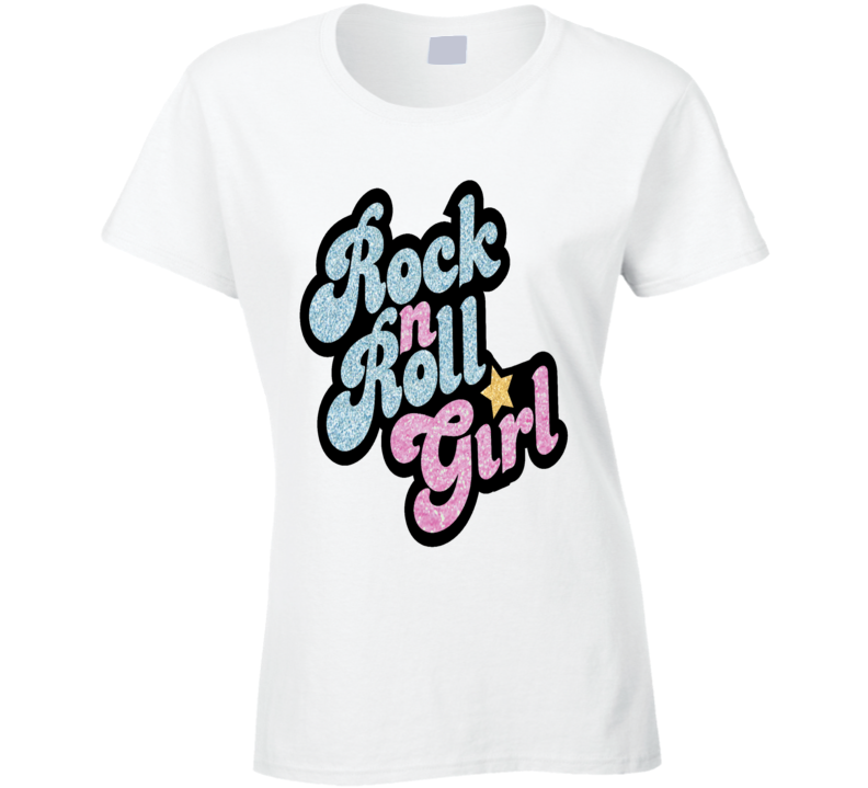 Rock and Roll Girl Music T Shirt