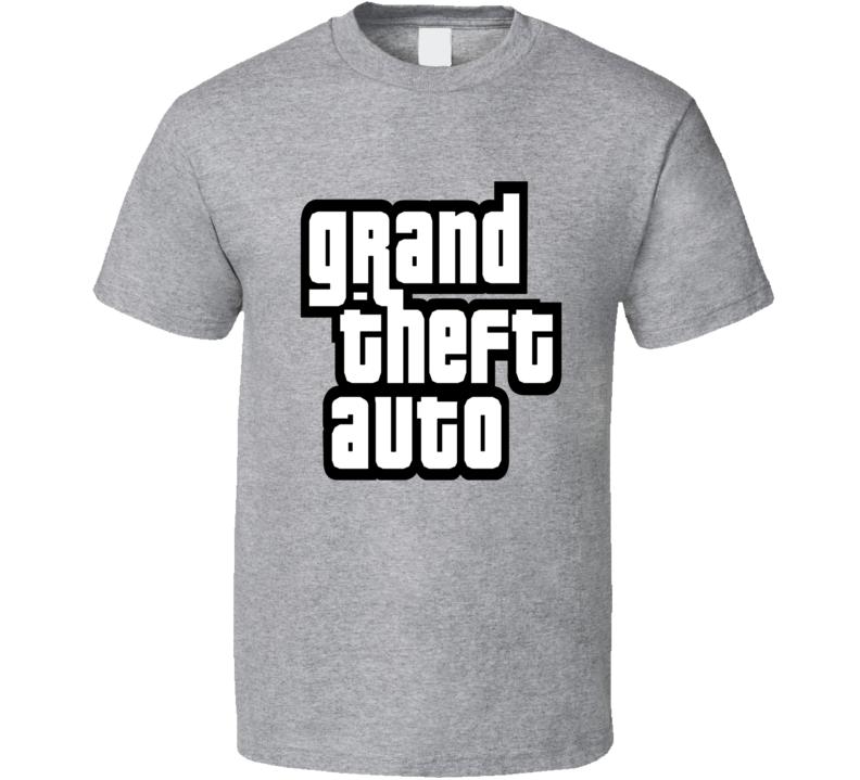 Grand Theft Auto Adventure Video Game Logo T Shirt