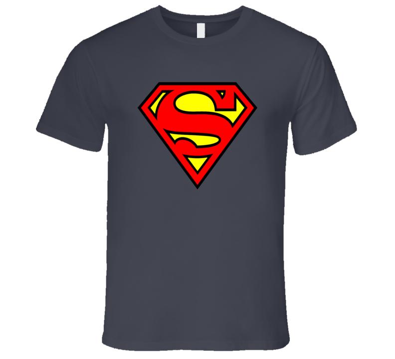Superman Logo Super Man Super Hero T Shirt