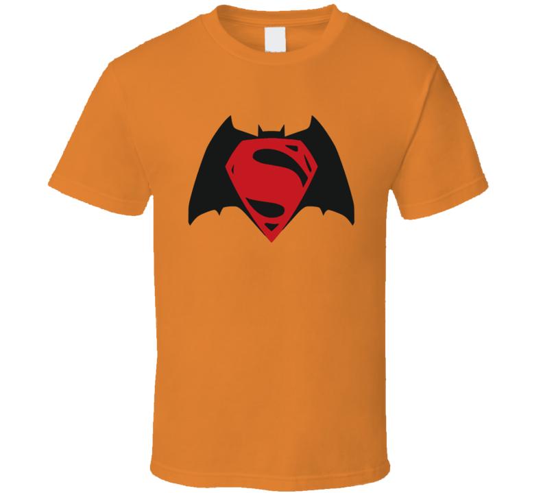 Batman and Superman Fused Logo Super Hero T Shirt