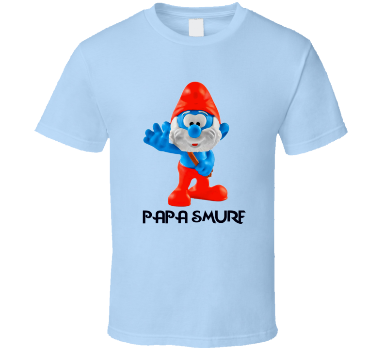 Papa Smurf The Smurfs Character Anime T Shirt