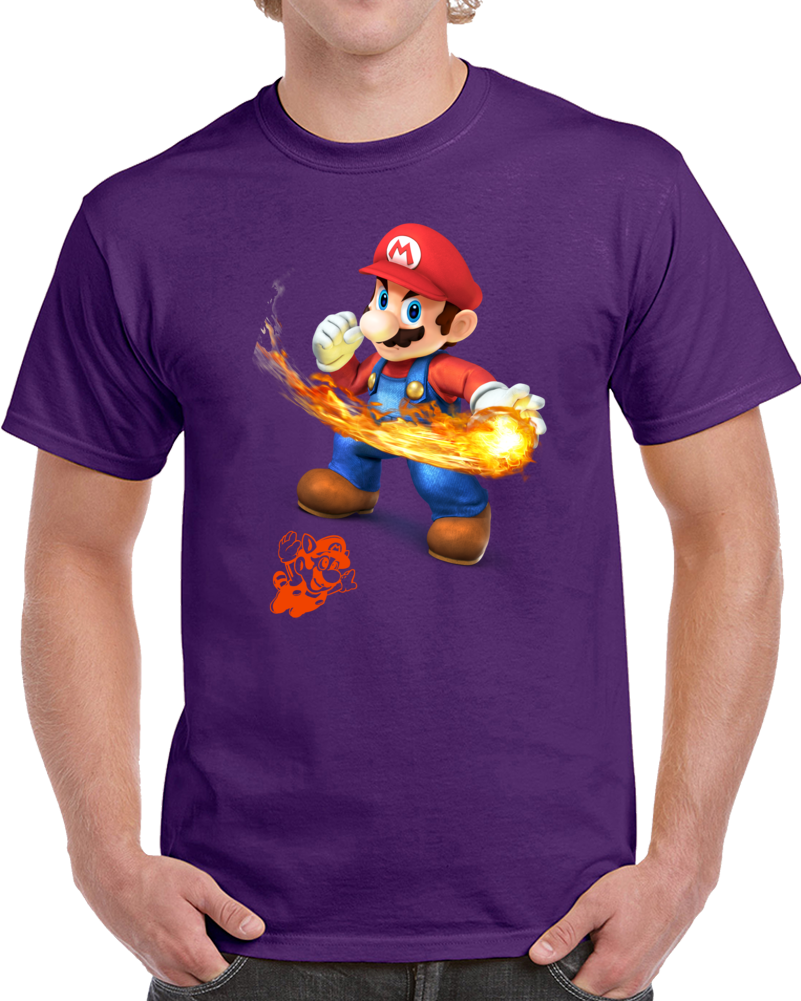 Mario Bros Gameplay Video Game Play T Shirt