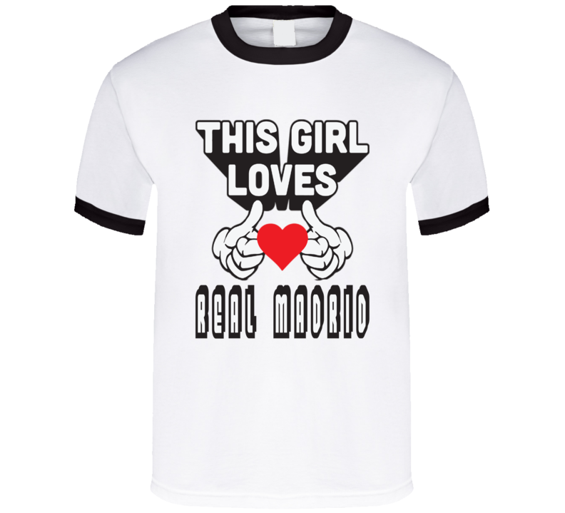 This Girl Loves Real Madrid T Shirt