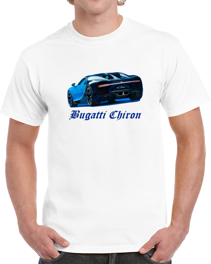 The Bugatti Chiron Sport Car Back T Shirt