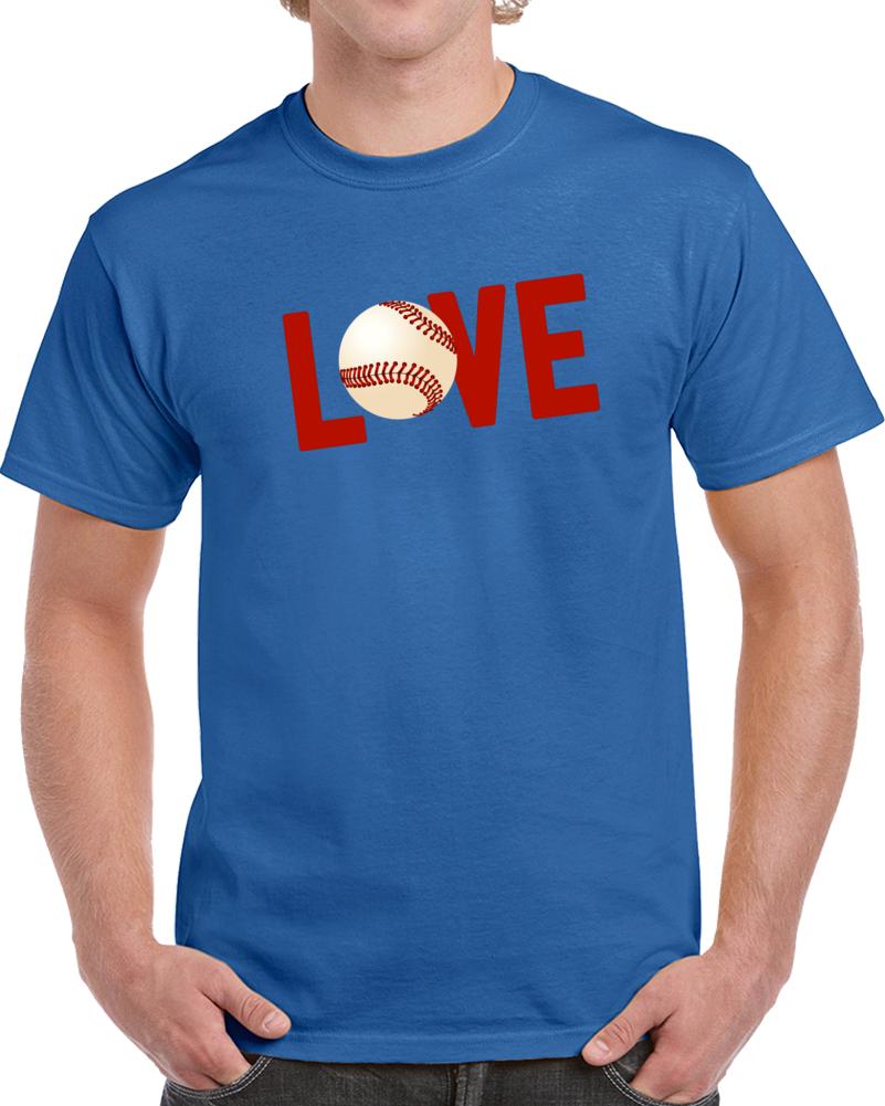 Love For Baseball Sport Romance 3 T Shirt